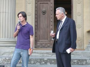 L 'Assessore alla Cultura del Comune di Fiesole paolo Becattini e il Consigliere regionale Eugenio Giani