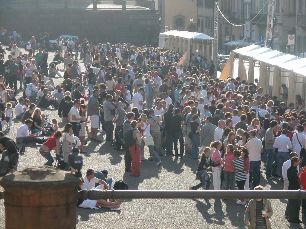 Un edizione del FWE in Piazza Pitti